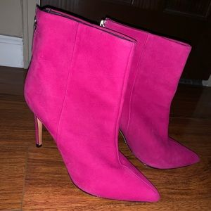 Schultz MICHAELA Hot Pink Pointed Toe Booties